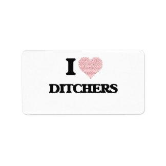 Amo Ditchers (el corazón hecho de palabras) Etiqueta De Dirección