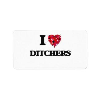 Amo Ditchers Etiquetas De Dirección
