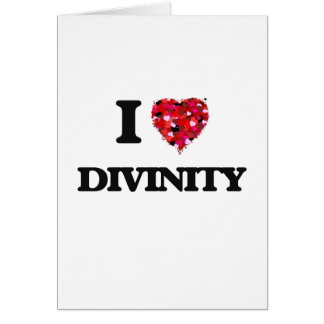 Amo divinidad tarjeta de felicitación