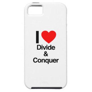 amo divisoria y la conquisto iPhone 5 Case-Mate carcasa