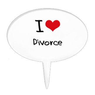 Amo divorcio decoración de tarta