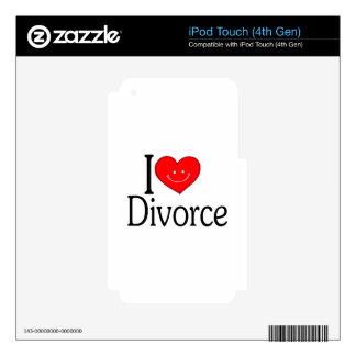 Amo divorcio skins para iPod touch 4G