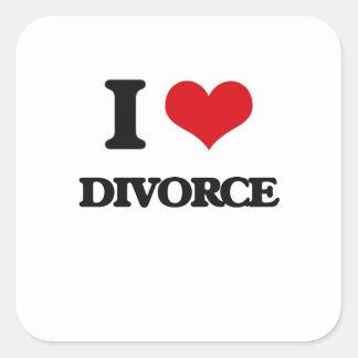 Amo divorcio pegatina cuadrada