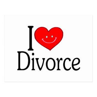 Amo divorcio tarjetas postales