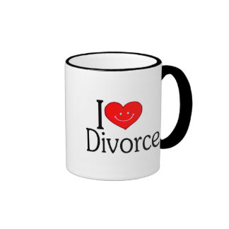 Amo divorcio taza de dos colores