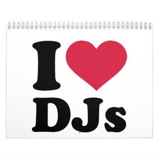 Amo DJs Calendarios De Pared