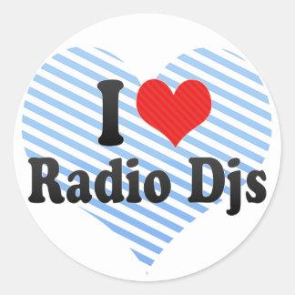 Amo Djs de radio Pegatinas Redondas