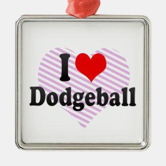 Amo Dodgeball Ornamento Para Arbol De Navidad