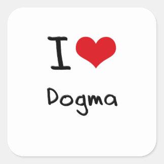 Amo dogma pegatina