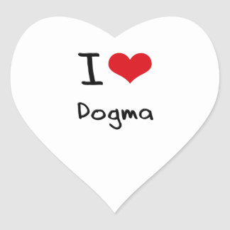 Amo dogma calcomania corazon