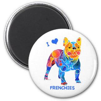 Amo dogos franceses imanes para frigoríficos