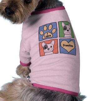 Amo dogos franceses ropa de mascota