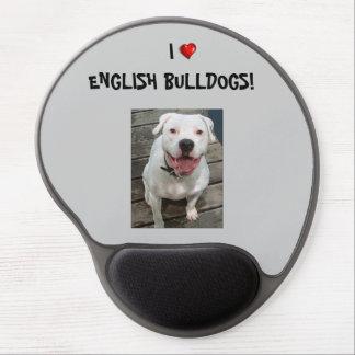 ¡Amo dogos ingleses Gel Mousepad Alfombrilla De Raton Con Gel