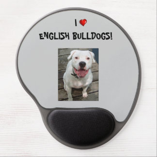 ¡Amo dogos ingleses!  Gel Mousepad Alfombrilla De Ratón Con Gel