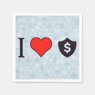 Amo dólares servilletas de papel