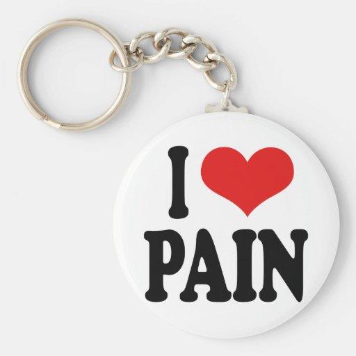 Amo dolor llavero redondo tipo pin
