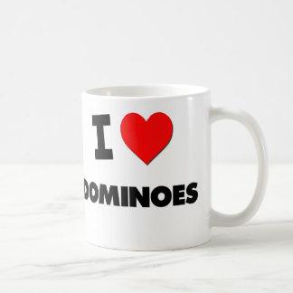 Amo dominós tazas de café