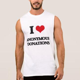 Amo donaciones anónimas camisetas sin mangas