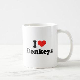AMO DONKEYS.png Taza De Café