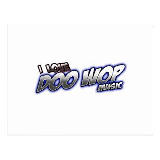 Amo DOO WOP música Postal