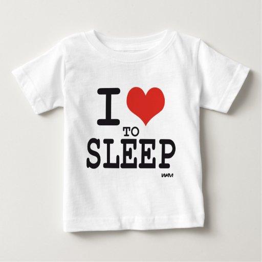 Amo dormir playera de bebé