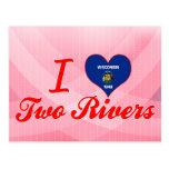 Amo dos ríos, Wisconsin Tarjeta Postal