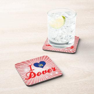 Amo Dover, Nueva York Posavasos De Bebidas