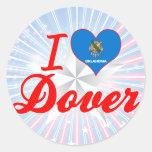 Amo Dover, Oklahoma Etiqueta Redonda