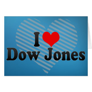 Amo Dow Jones Tarjeta De Felicitación
