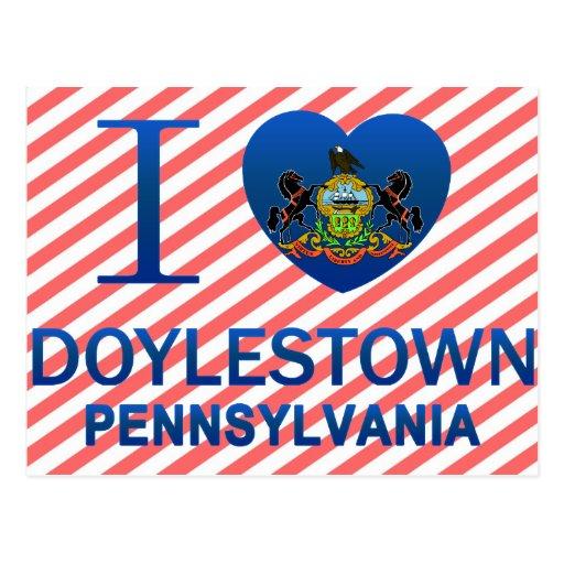 Amo Doylestown, PA Tarjeta Postal