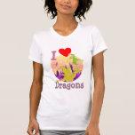 Amo dragones camisetas