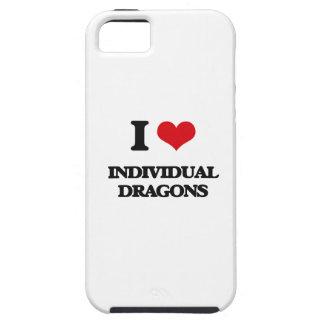 Amo dragones individuales iPhone 5 protectores