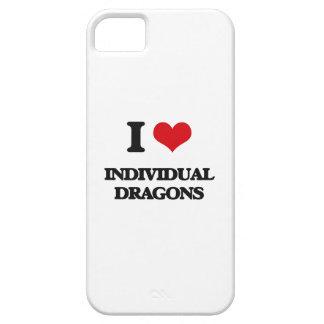 Amo dragones individuales iPhone 5 Case-Mate cárcasa