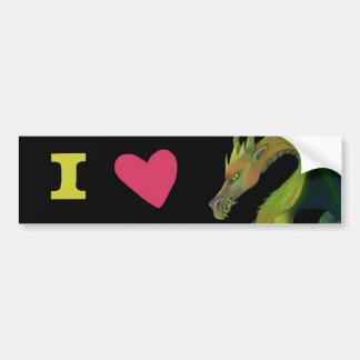 Amo dragones pegatina para auto