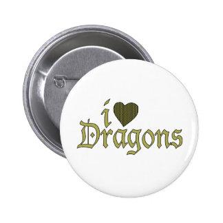 Amo dragones pin redondo 5 cm