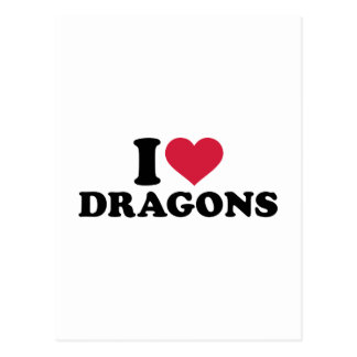 Amo dragones tarjeta postal