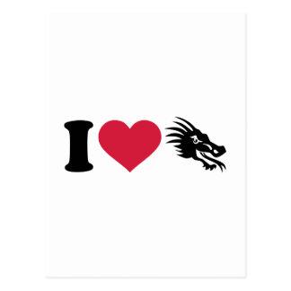 Amo dragones postal
