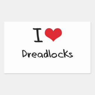 Amo Dreadlocks Rectangular Pegatinas