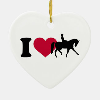 Amo dressage adorno de cerámica en forma de corazón