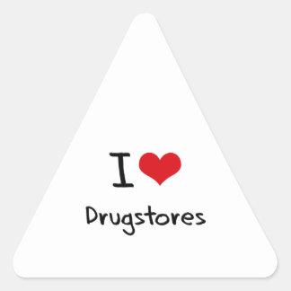 Amo droguerías pegatina triangular