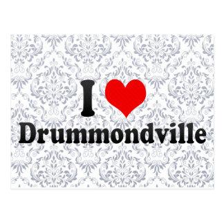 Amo Drummondville, Canadá Postales