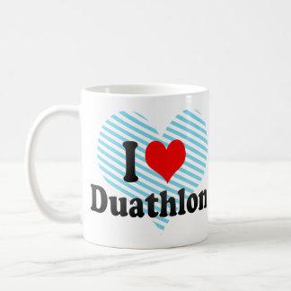 Amo Duathlon Taza Básica Blanca