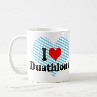 Amo Duathlons Taza Básica Blanca