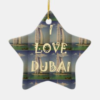 Amo Dubai Adorno Navideño De Cerámica En Forma De Estrella