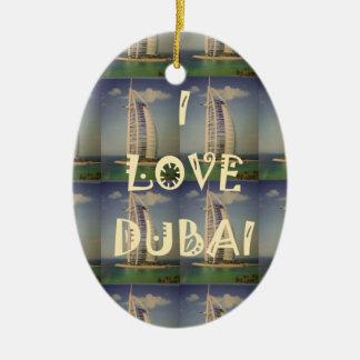 Amo Dubai Adorno Navideño Ovalado De Cerámica