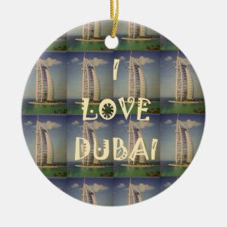 Amo Dubai Adorno Navideño Redondo De Cerámica