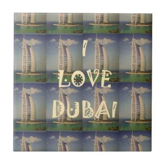 Amo Dubai Azulejo Cuadrado Pequeño