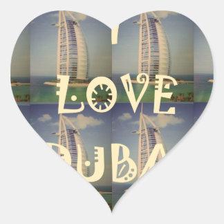 Amo Dubai Pegatina En Forma De Corazón