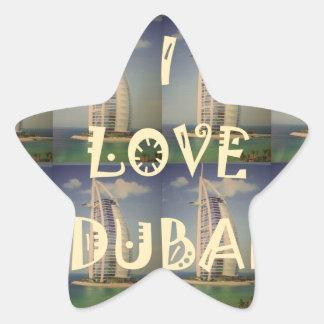 Amo Dubai Pegatina En Forma De Estrella