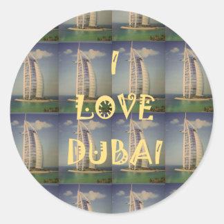 Amo Dubai Pegatina Redonda